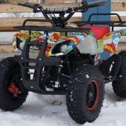 Детский квадроцикл на аккумуляторе MOTAX Mini Grizlik Х-16 Big Wheel 1000W (пульт контроля, до 35 км/ч, большие колеса)